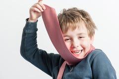 мальчик немногая играя связь Стоковое Фото