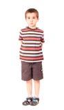 мальчик немногая смотря уныл определяет Стоковая Фотография RF