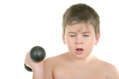 мальчик немногая тренирует Стоковое Изображение