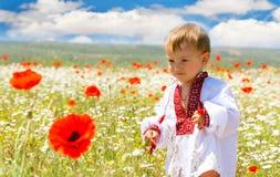 мальчик одевает традиционное Стоковые Изображения
