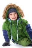 мальчик одевая счастливую зиму Стоковые Фото