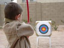 мальчик одно лучника стоковая фотография