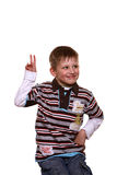мальчик ответа полный страстного желания к Стоковое Изображение RF