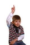 мальчик ответа полный страстного желания к Стоковое фото RF