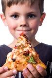 Мальчик пиццы Стоковое Изображение RF
