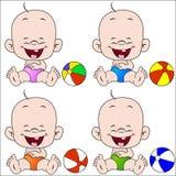 мальчик пляжа шарика Стоковое фото RF