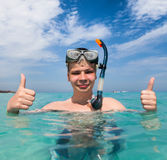 мальчик пляжа Стоковое фото RF