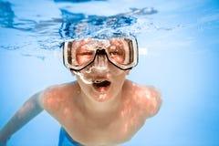 мальчик подводный Стоковая Фотография RF