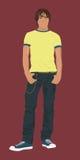 мальчик предназначенный для подростков Стоковые Изображения RF