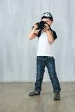 Мальчик принимает фото Стоковая Фотография RF