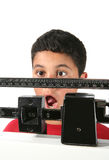 мальчик приобретая вес Стоковое Фото