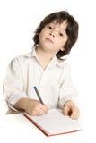 мальчик рисуя немногую которое Стоковое Фото