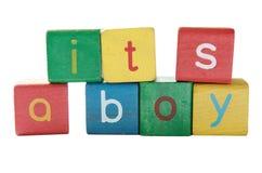 мальчик рождения объявления Стоковые Изображения