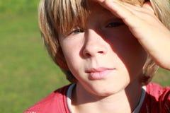 мальчик серьезный Стоковая Фотография RF