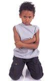Мальчик сердитый Стоковые Фото