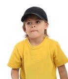 мальчик сидит спокойное Стоковое Фото