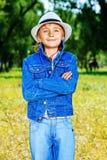 мальчик симпатичный Стоковая Фотография