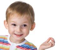 мальчик смеясь над немного Стоковая Фотография RF
