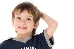 мальчик смотря вверх детенышей Стоковое Изображение RF