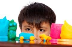 мальчик смотря молод Стоковая Фотография RF
