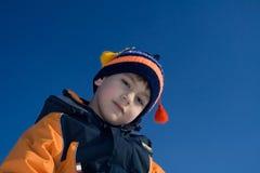 мальчик смотря твердокаменно Стоковые Изображения RF