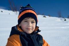 мальчик смотря твердокаменно Стоковая Фотография RF