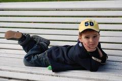 мальчик стенда Стоковое фото RF