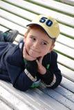 мальчик стенда стоковое изображение rf