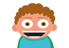 Мальчик счастливой маленькой улыбки извилистый стоковые изображения