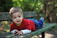 мальчик счастливый немногая Стоковая Фотография RF