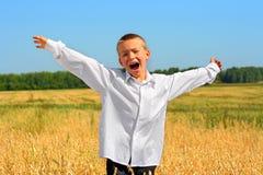 мальчик счастливый Стоковое Фото