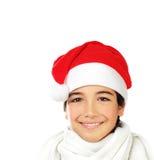 мальчик счастливый santa Стоковое фото RF