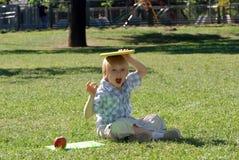Мальчик с книгами Стоковое Фото