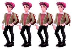 Мальчик с различными выражениями Стоковое фото RF
