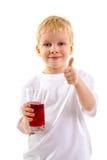 Мальчик с стеклом сока Стоковое Изображение RF