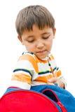 Мальчик с backpack Стоковые Изображения