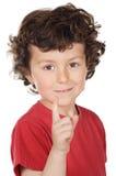 мальчик указывая вверх Стоковое Изображение