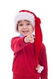 мальчик указывая santa Стоковые Фотографии RF