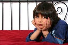 мальчик унылый Стоковая Фотография RF
