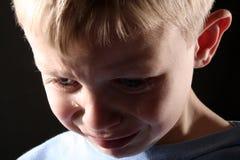 мальчик унылый Стоковые Изображения
