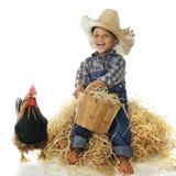Мальчик фермы Стоковые Фото