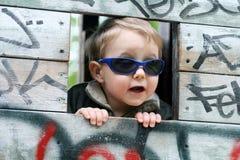 мальчик холодный Стоковые Изображения