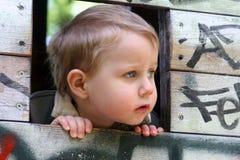мальчик холодный Стоковые Фото