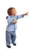 мальчик шарика немногая Стоковое Изображение