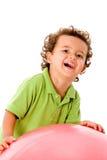 мальчик шарика Стоковое Изображение