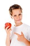 мальчик яблока немногая Стоковые Изображения RF