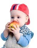 мальчик яблока Стоковое Фото