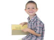 мальчик 2 книги Стоковые Изображения RF