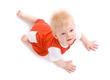 мальчик 7 времен маленькие месяцы Стоковые Фотографии RF