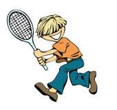 мальчик badminton Стоковое Изображение